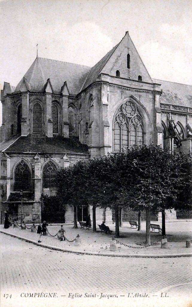 Album - la ville de Compiegne (Oise), les églises, absides, abbaye, chapelles, temple