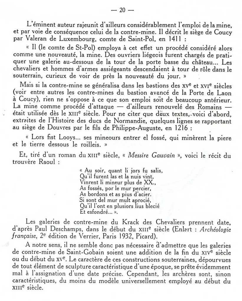 Album - groupe Saint-Gobain, l'Histoire du Château-Fort de Saint-Gobain