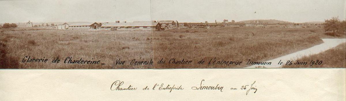 A, au cours de l'année 2020 et en particulier au mois d'avril, la Glacerie de Chantereine ( Saint-Gobain ) fêtera ses 100 ans d'existence. A cette occasion, une exposition aura lieu pour retracer, depuis sa construction, toute son Histoire.