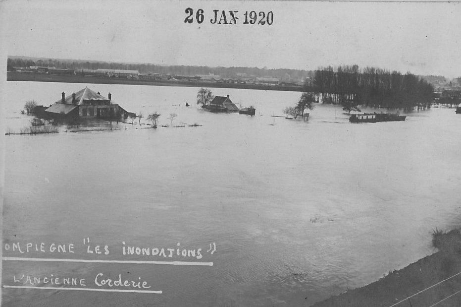 Album - la ville de Compiégne (Oise), les inondations