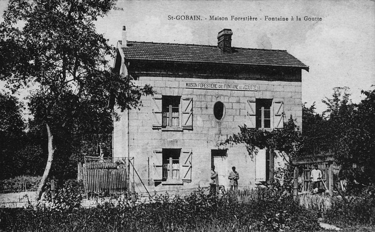 Album - le village de Saint-Gobain (Aisne), ermitage, le frigolet, la grange, les marettes, le pied du mont, maison forestiére