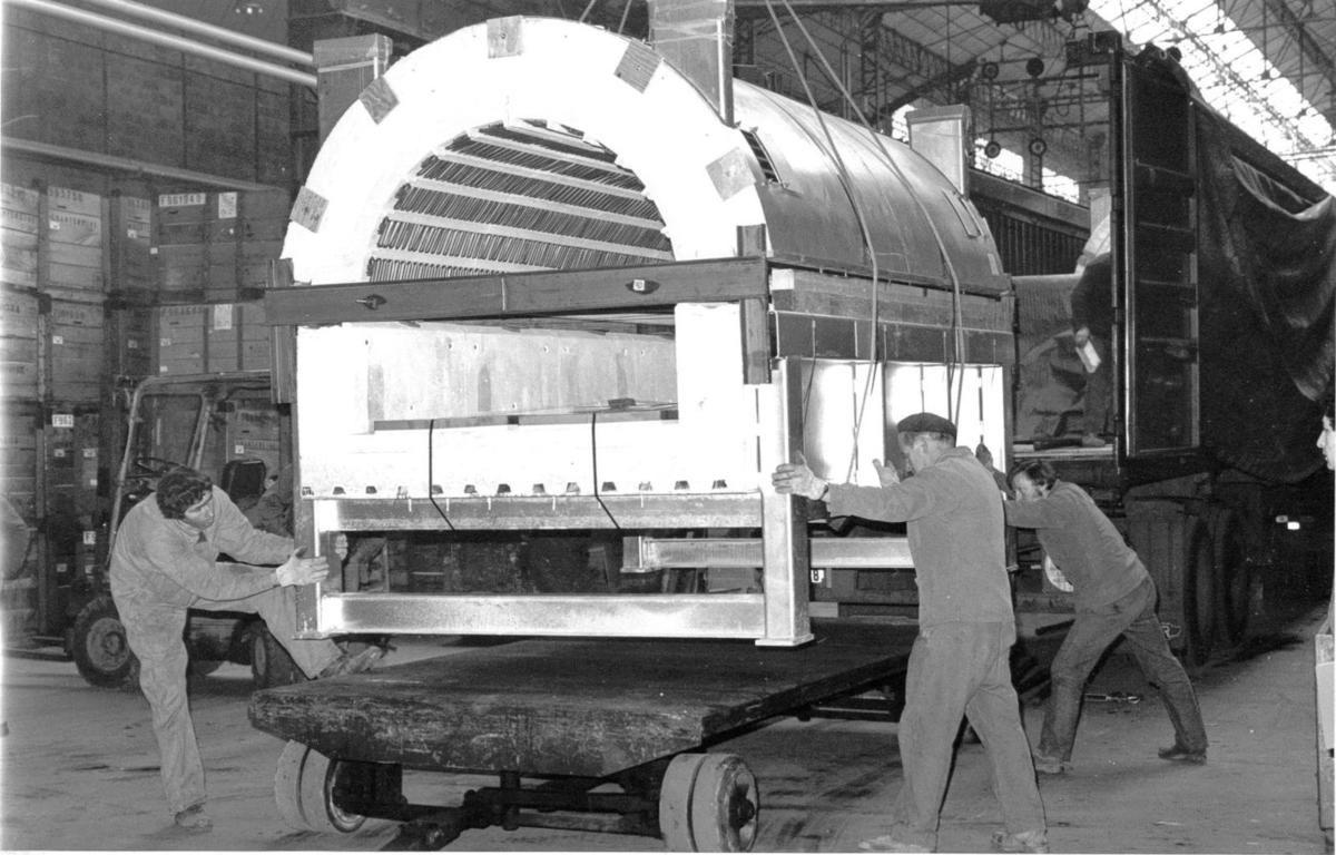 Album - Chantereine, 1983 construction de l'atelier Glasstech, son exploitation