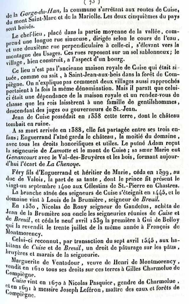 Album, le village de Cuise la Motte (Oise), son Histoire