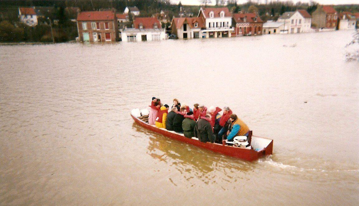 Album - le village de Longueil-Annel, (Oise), les inondations en 1993