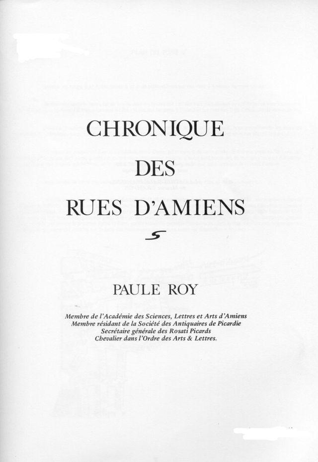 Album - la ville d'Amiens, les rues de la ville ( tome 3 )