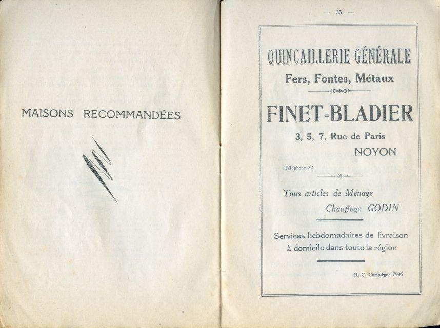 Album - la ville de Noyon ( Oise ), son Histoire, ses Monuments, ses Environs en 1931
