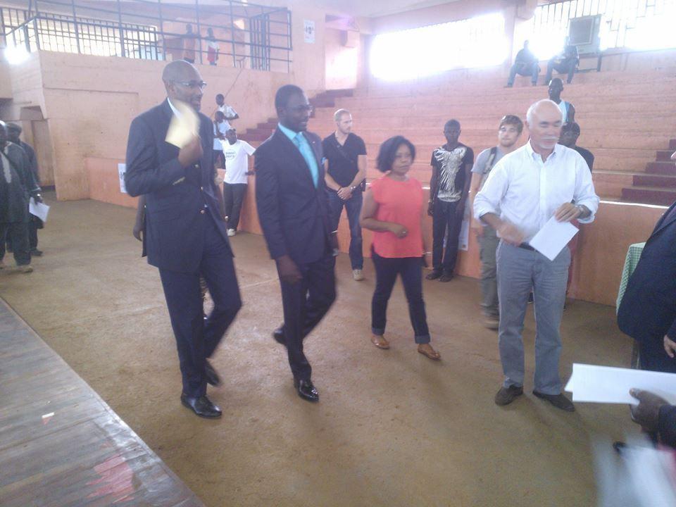 En direct du palais d'Omnisports de Bangui