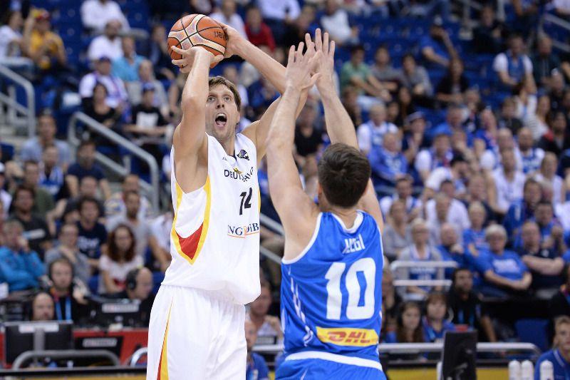 Dirk Nowitzki a guidé l'Allemagne avec 15 points et 7 rebonds.