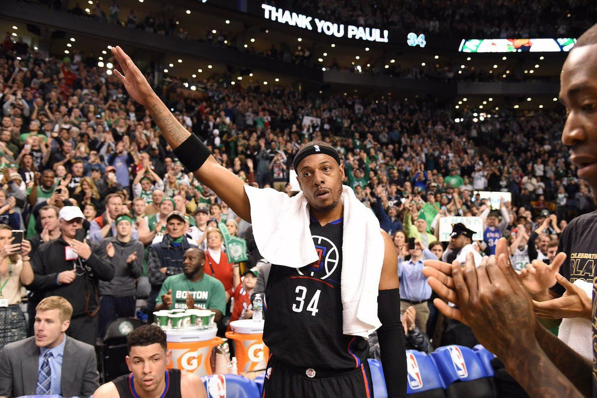 Paul Pierce reçoit un accueil chaleureux et émouvant pour son dernier match à Boston