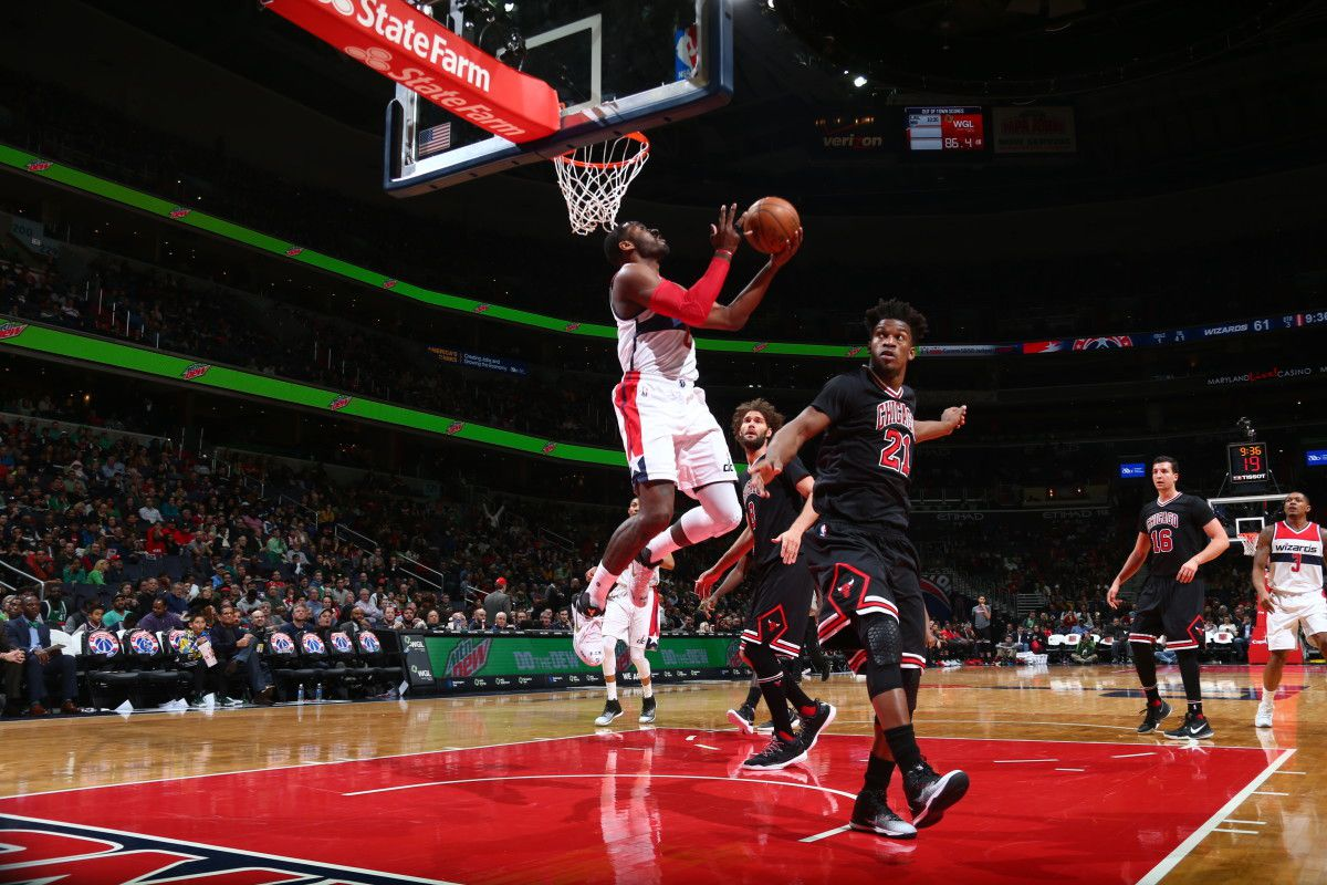 Le duo John Wall (14 points et 20 passes) - Bradley Beal (24 points) a eu le dernier mot face aux Bulls