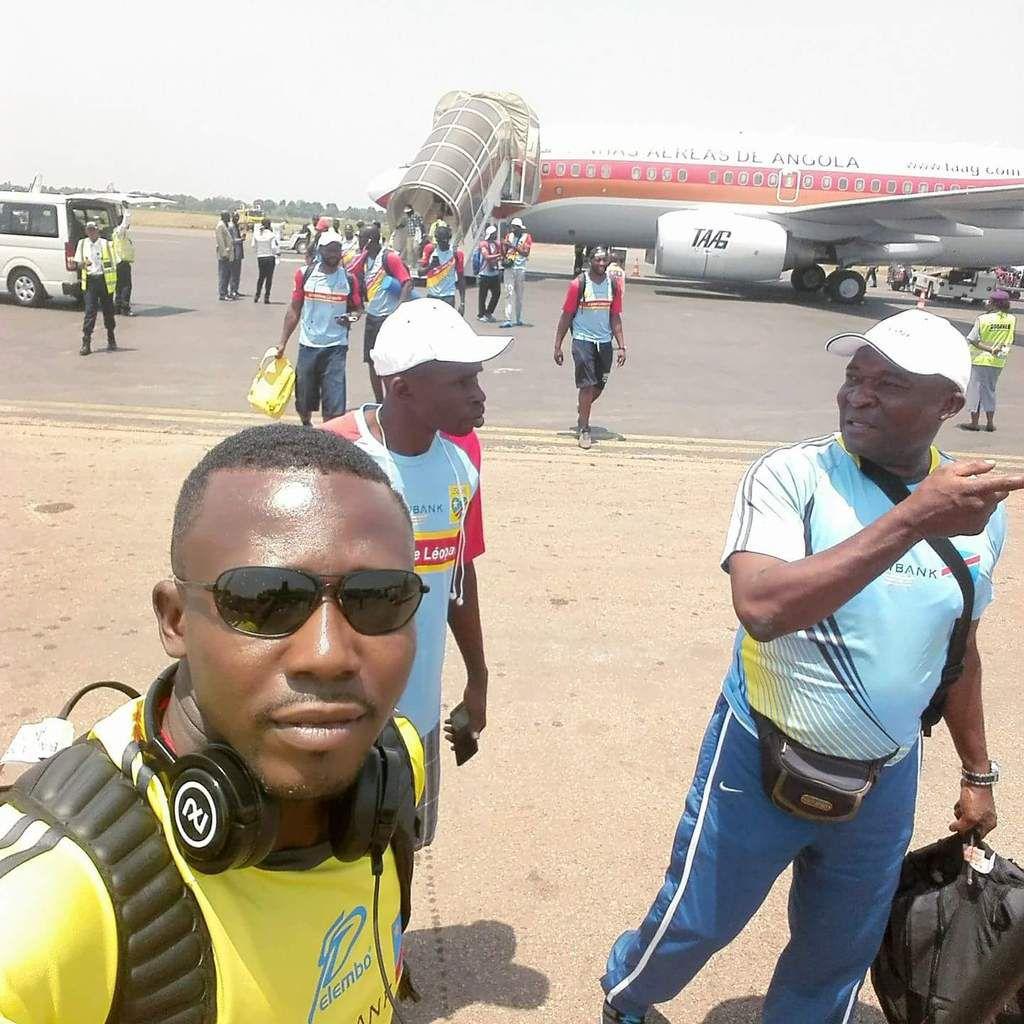 L'arrivée des Léopards à l'aéroport de Bangui Mpoko