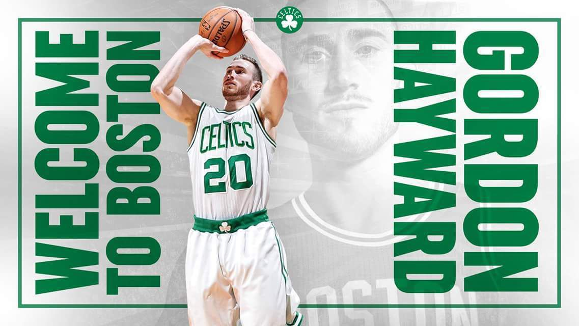 Les Celtics offrent l'ancien numéro de Ray Allen à Gordon Hayward