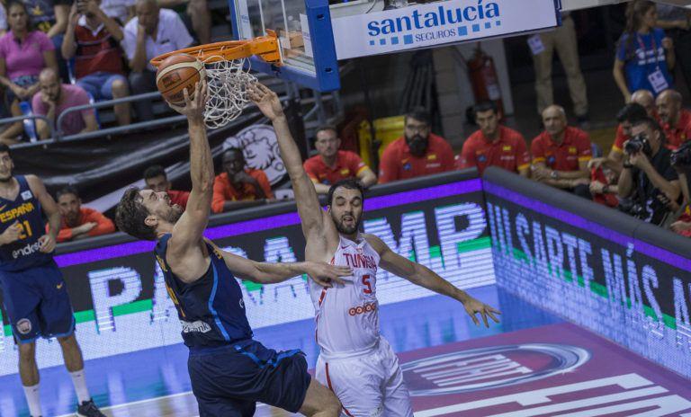 Afrobasket 2017 : la Tunisie s'incline logiquement face à l'Espagne des frères Gasol  en match amical