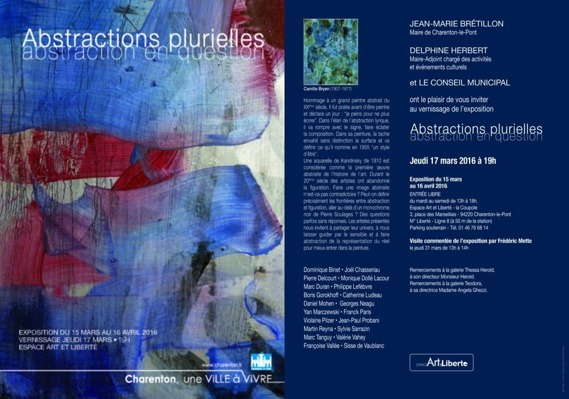 """Abstractions plurielles"" (mars - avril 2016)"