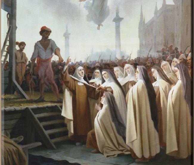 17 juillet 1794 : Quand la république judéo-maçonnique assassine 16 religieuses carmélites de Compiègne