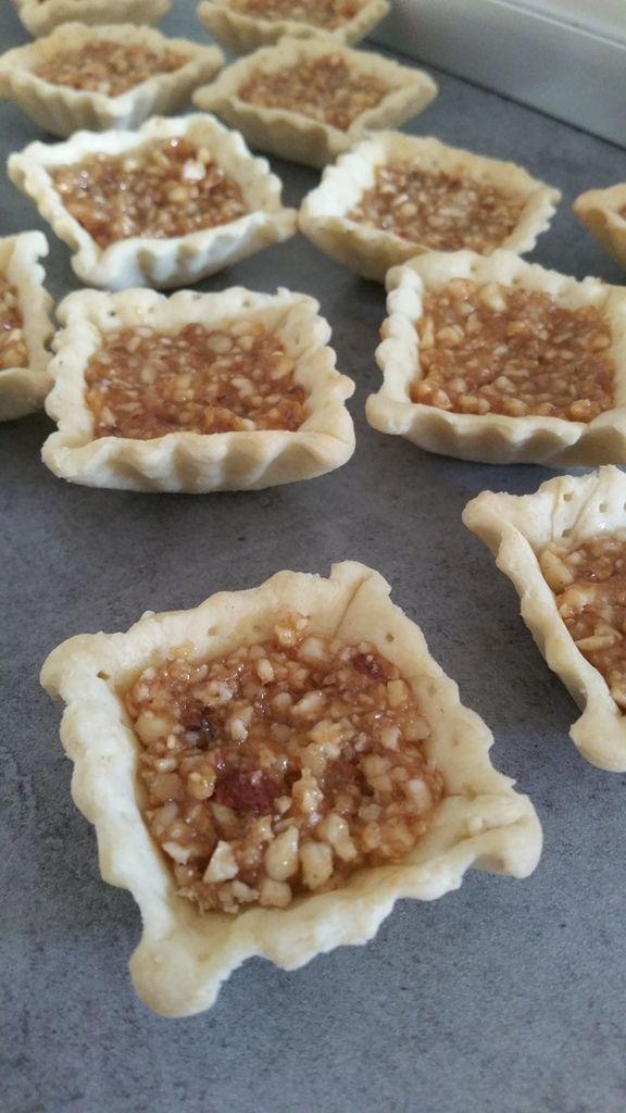 Mini tartelettes aux fruits secs &amp&#x3B; caramel