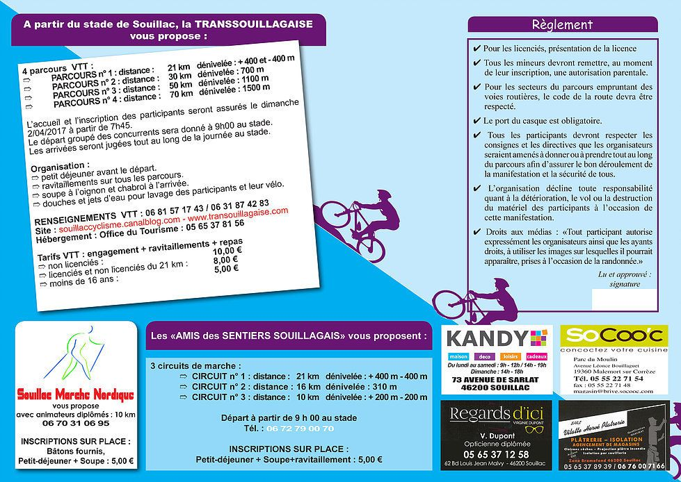 Dim 2 avril: Transouillagaise 2017