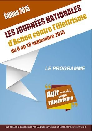 Journées Nationales d'Action contre l'Illettrisme - 8 au 13 septembre 2015