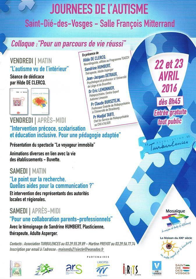 2 avril 2016 - Journée de sensibilisation à l'autisme - Les évènements près de chez vous