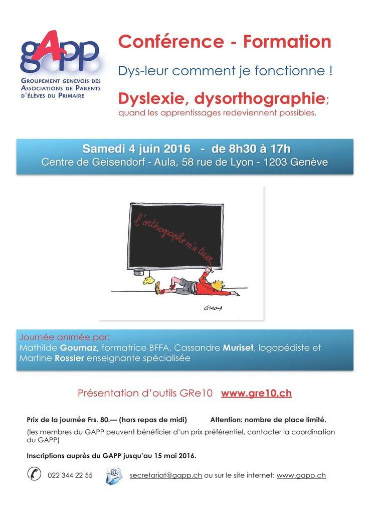 Dyslexie, dysorthographie&#x3B; quand les apprentissages redeviennent possibles - 4 juin 2016