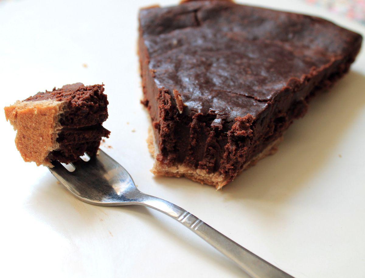 Tarte chocolat et crème de marron (végétalienne)