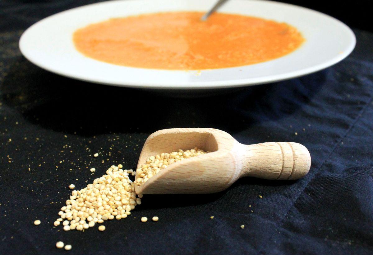Soupe aux carottes et au quinoa