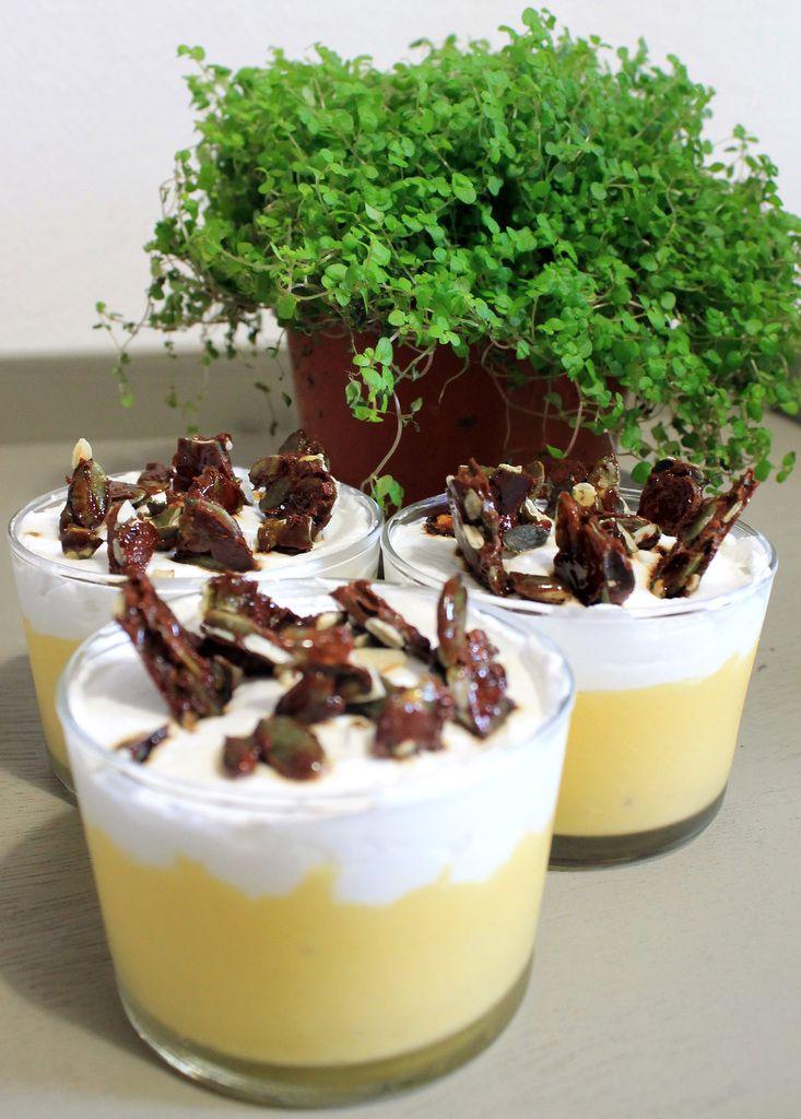 Verrines mangue-noix de coco (recette végétalienne)