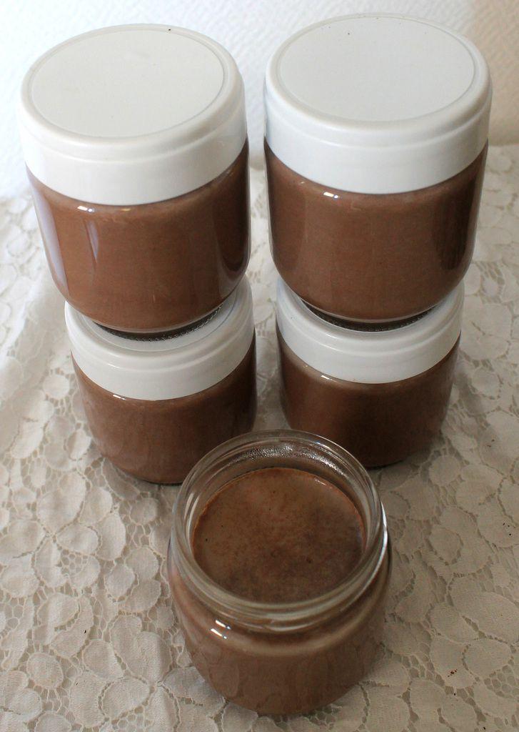 """""""Yaourts"""" végétaliens chocolat-vanille (avec une yaourtière)"""