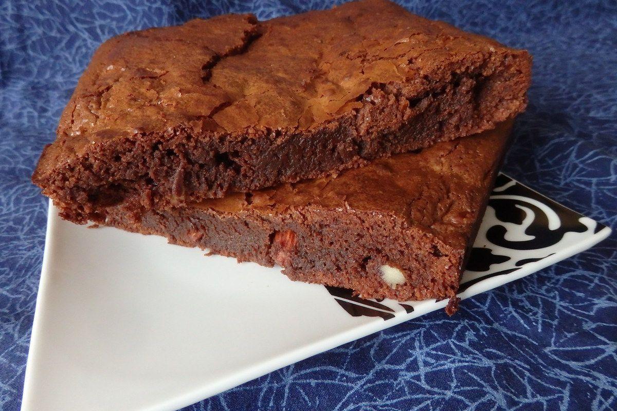 Brownies chocolat lait et noir