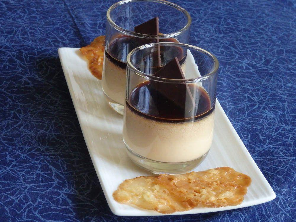 Panna cotta au praliné et coulis de café