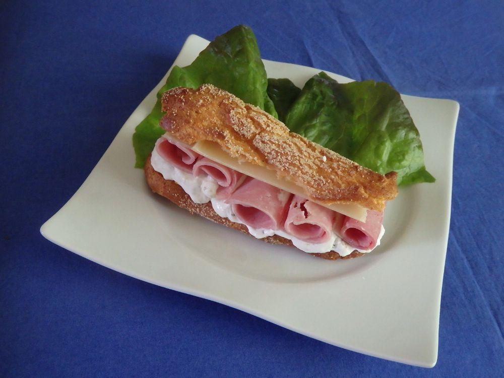 Eclair jambon cornichon