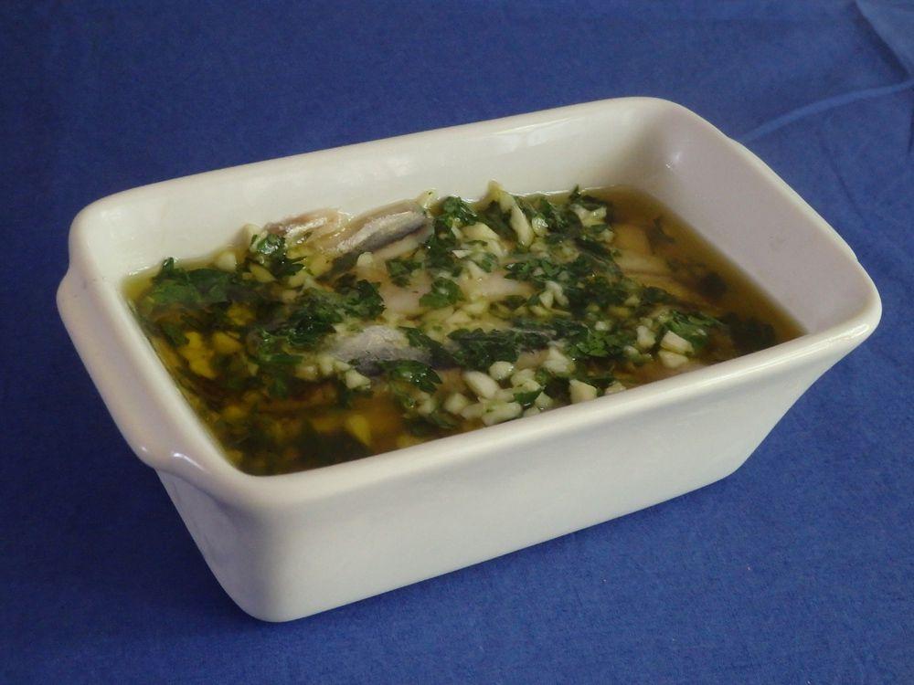 Anchois marinés à l'huile d'olive