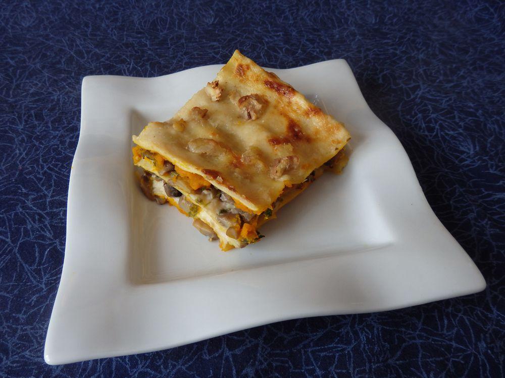 Recette autour d'un ingrédient #11– lasagnes aux champignons et potimarron