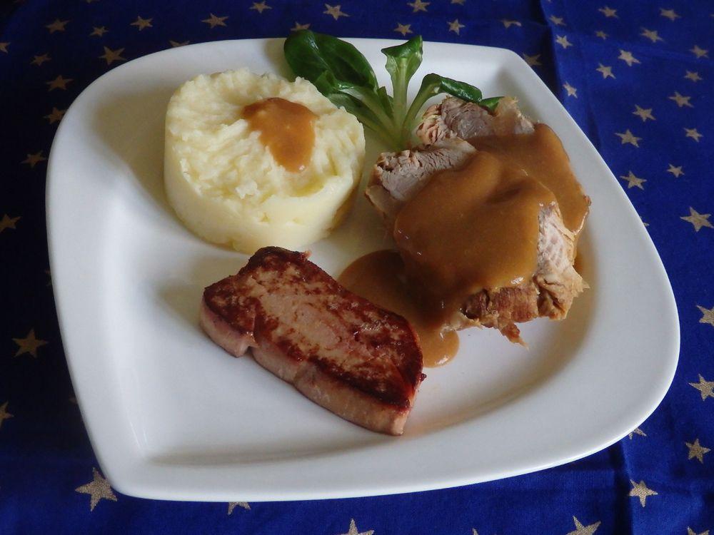 Paleron De Veau Braise Escalope Foie Gras