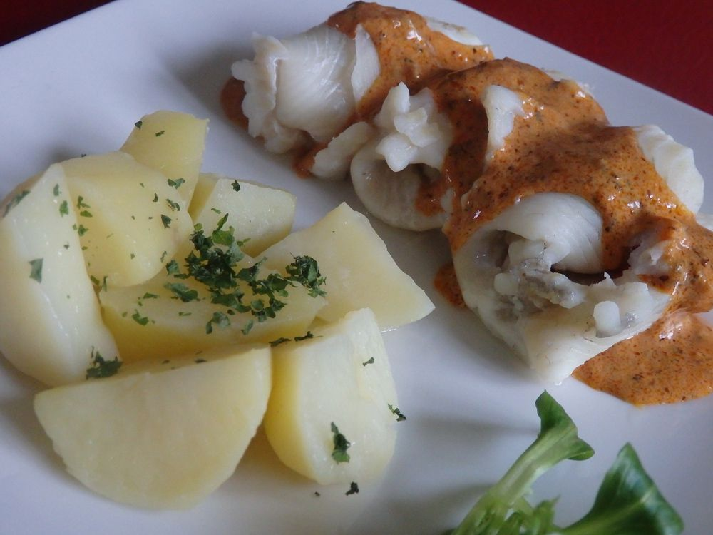Filets de barbue sauce basque Sakari