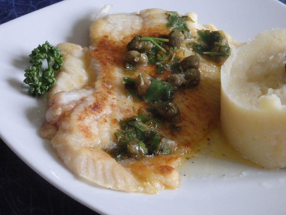 Recette autour d'un ingrédient #15 – filet de raie et sa sauce au beurre citronnée et aux câpres