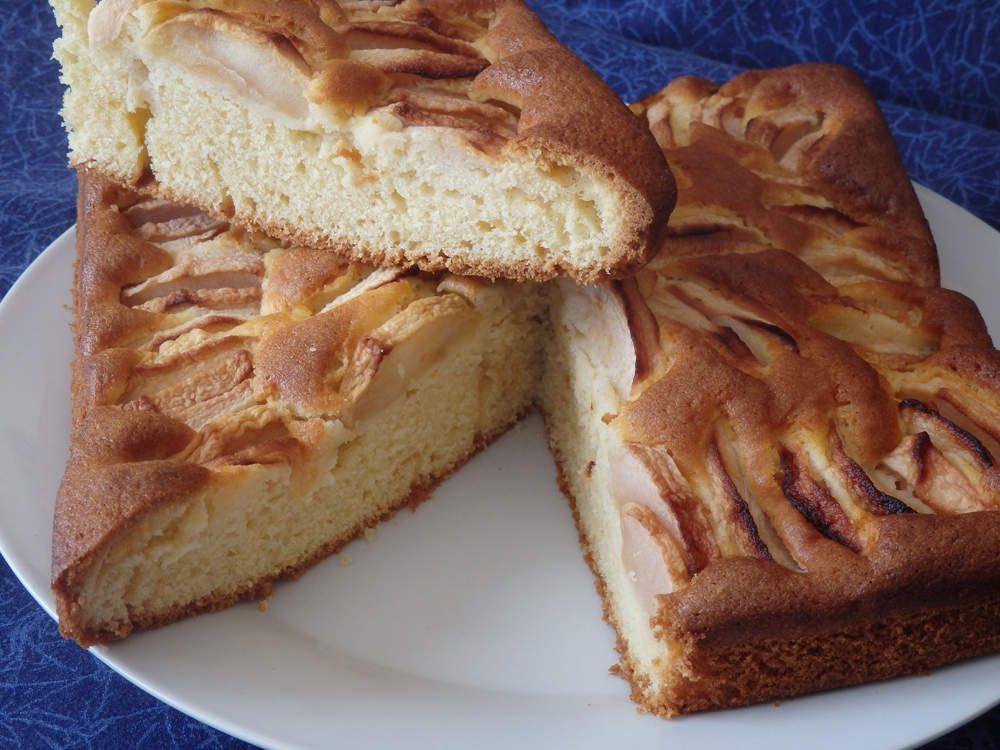 Gâteau aux pommes trés fin