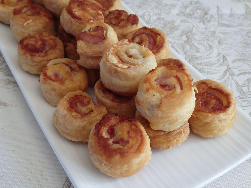 Petits choux feuilletés bacon &amp&#x3B; gruyère