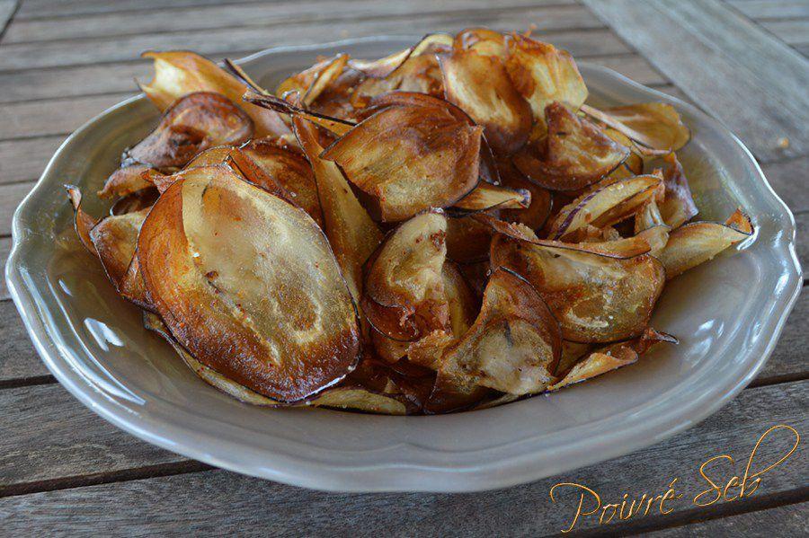 Chips d'aubergines au piment d'Espelette