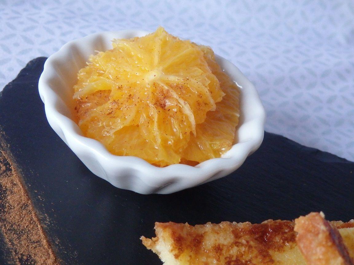 Brioche perdue, chantilly et salade d'orange à la cannelle