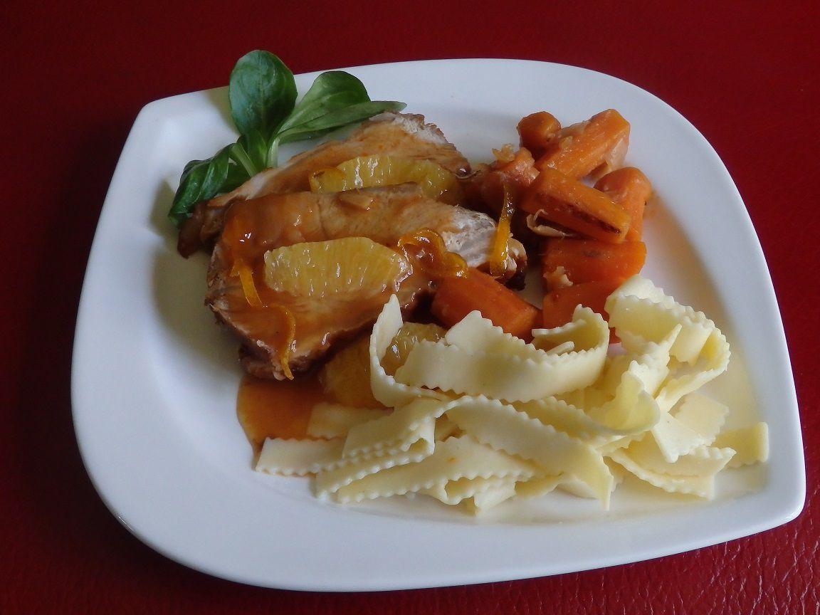 Paleron de veau braisé à l'orange et badiane