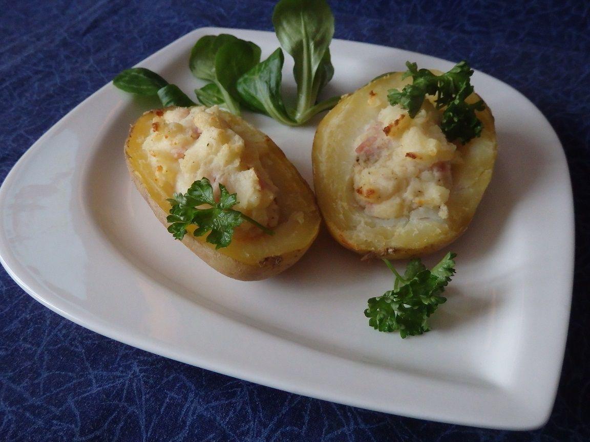 Pommes de terre gratinées au fromage frais