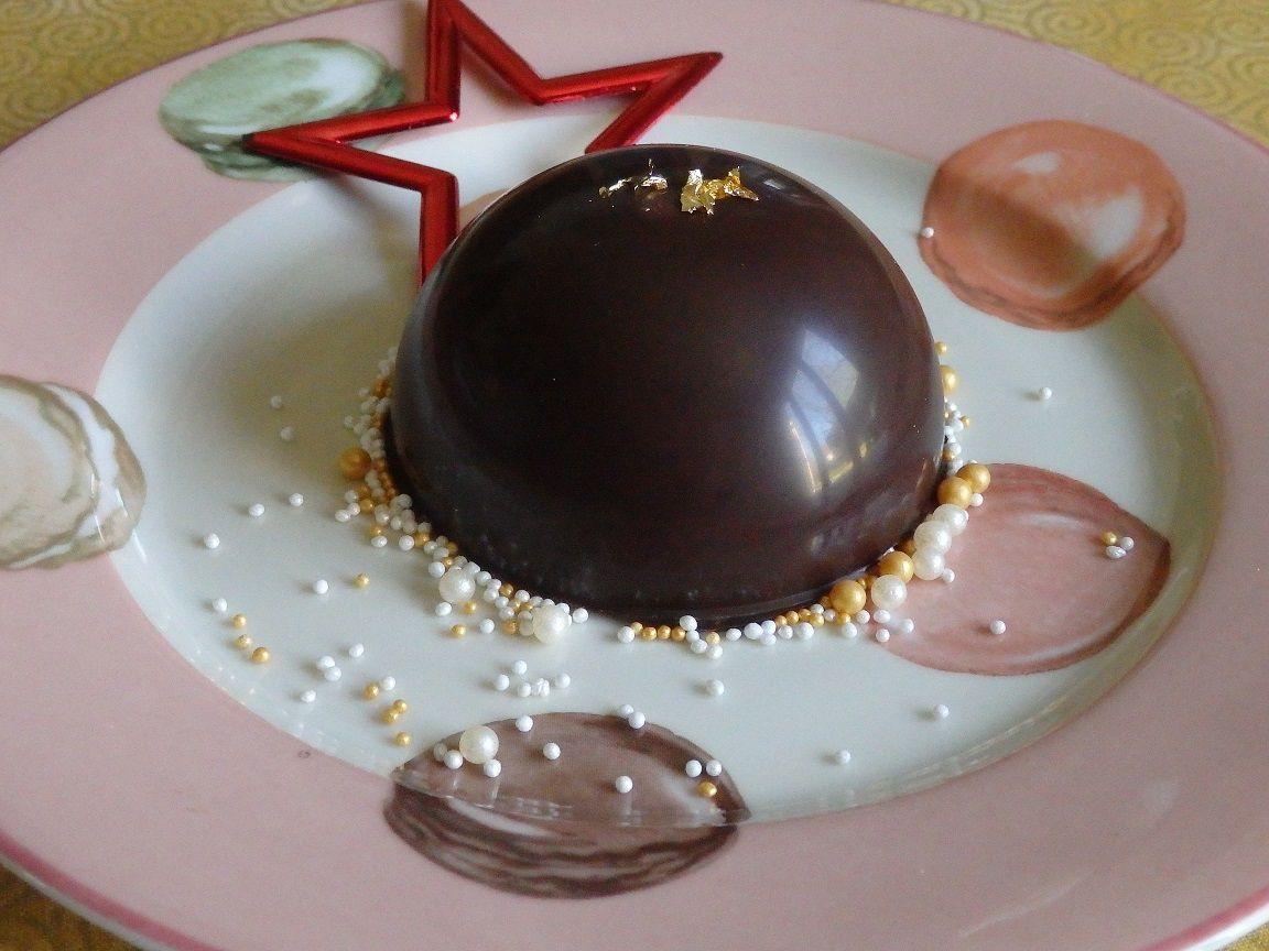 Dômes chocolat noir et spéculoos