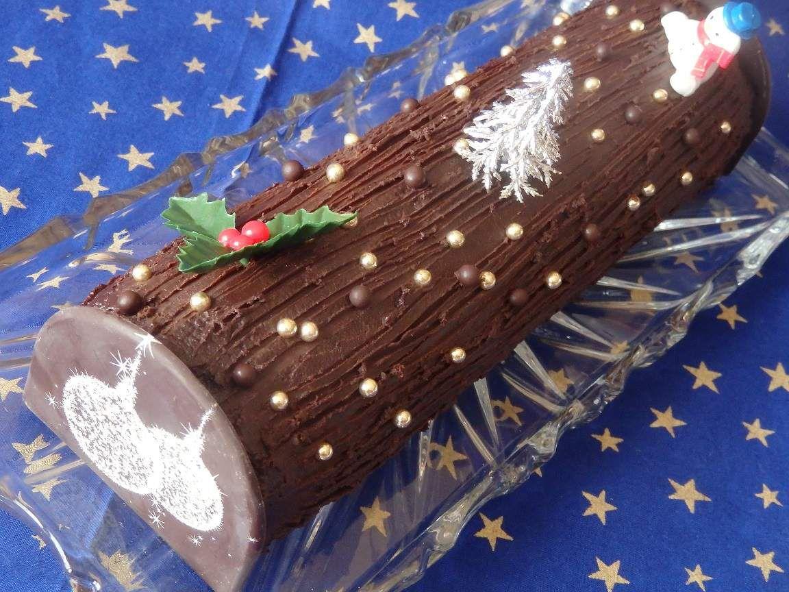 Bûche pralinée chocolat