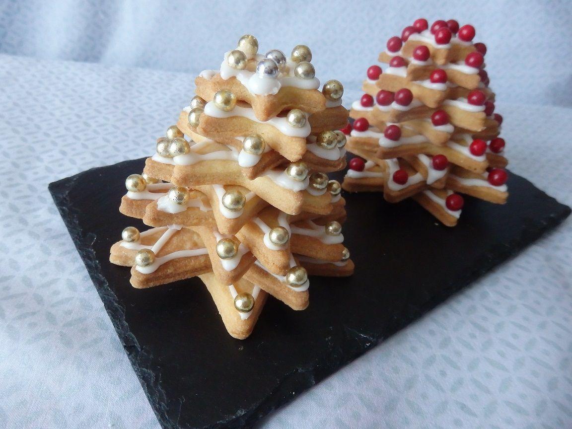 Petits sapins de Noël en 3 D et en sablés