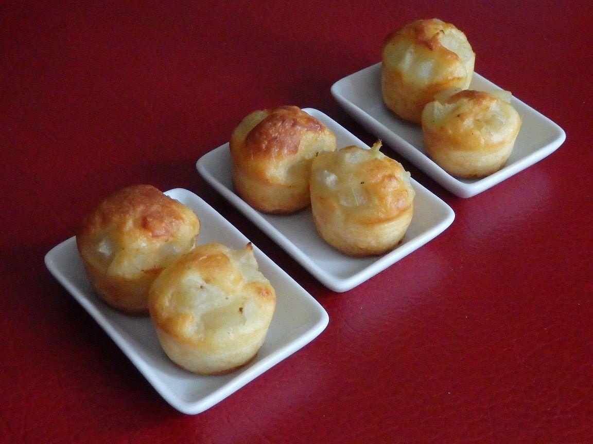 Cupcakes au camembert et à la poire