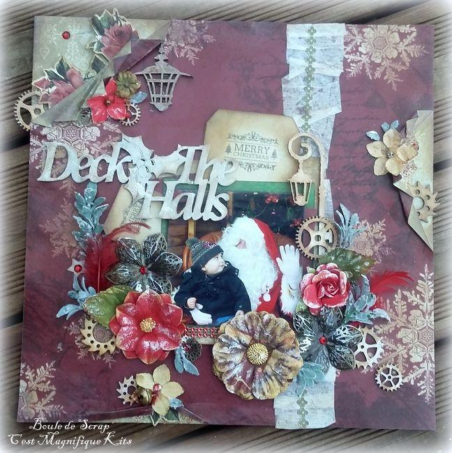 Page &quot&#x3B;Deck The Halls&quot&#x3B; pour &quot&#x3B;C'est Magnifique Kits&quot&#x3B;