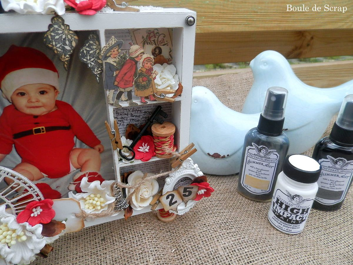 Shadowbox de Noël pour Canvas Corp Brands et son tutoriel