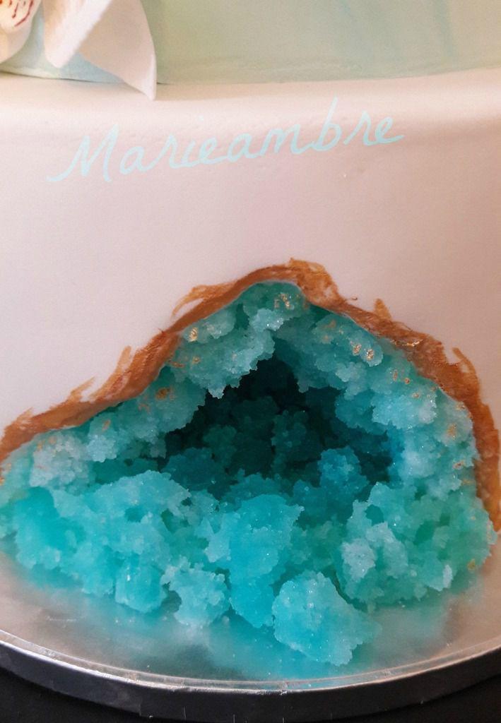 Cristaux de sucre bleu lagon
