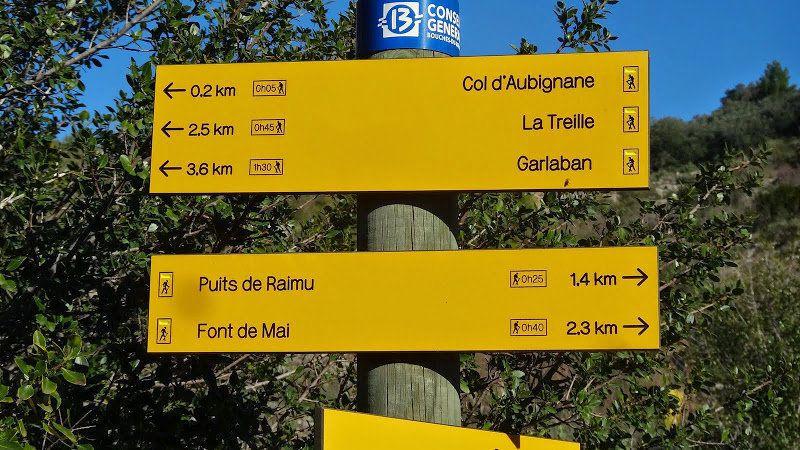 De la Font de Mai au Col d'Aubignane